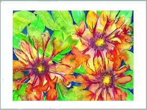 Flowers Watercolor by Mary Prater