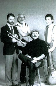 Photo of Tim Whitsett, Andy Anderson, Cliff Thomas, seated Bob McRee courtesy of Johnny Sumrall