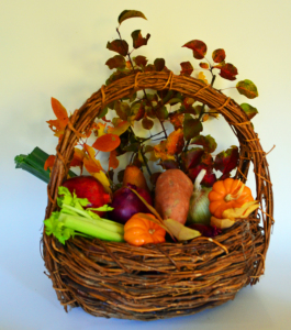 Thanksgiving Basket 5 inches