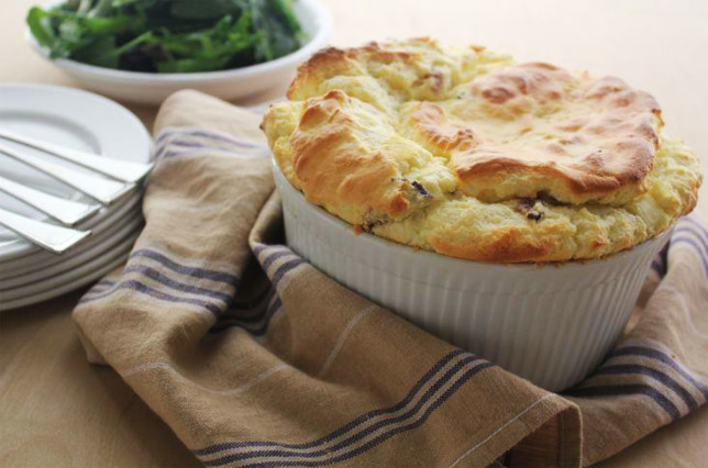 5.BACON AND LEEK SOUFFLE